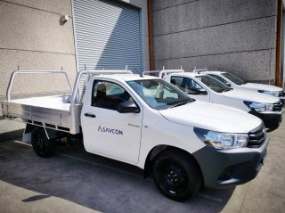 GREET THE FLEET! 👋  Be sure to give our team a wave should you see us on the road!  Thanks to @drivenbyfreedom_ and @toyota_aus for our new fleet of vehicles. . . . . . . . . . #savcon #savcondelivers #carpentry #building #construction #masstimberconstruction #timber #wood #craft #specialist #toyota #hilux #fleet #cars #utes #branding #advertising #marketing #promotion #drive #sayhello #safetyfirst #sweetfleet #team #teamwork #new #exciting #grow #expand